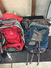 2 x Giant backpackers travel bags Merewether Newcastle Area Preview