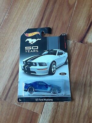 Hot Wheels Mustang 50 Years '07 Ford Mustang Blue [New in Package] 06/08