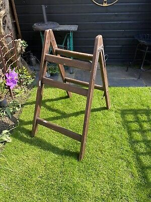 Vintage Industrial A Frame Ladder