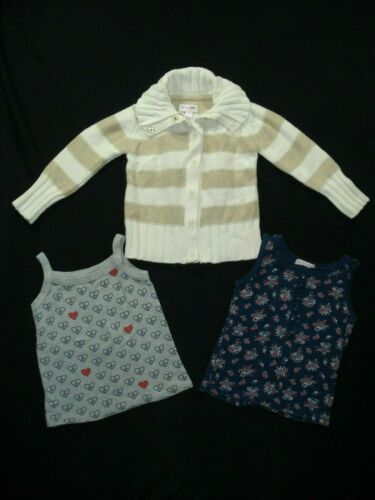 Girls Sz 2t Cotton Cardigan Sweater Tank Top Clothing Lot Old Navy Genuine Kids