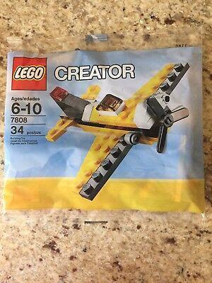 NEW LEGO CREATOR 7808 YELLOW AIRPLANE 34 pcs NIP SEALED PLANE