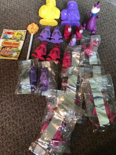 The Flintstones cereal premium toy lot 1972 Dino pen Fred eraser figures sealed