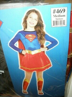 Supergirl Tv Show Superman Girls Children MEDIUM 8-10 Long Sleeve Costume  NIP](Superman Girl Costumes)