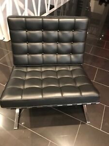 Blk Leather Chairs from F2 furniture  $300 each Call 7809089641