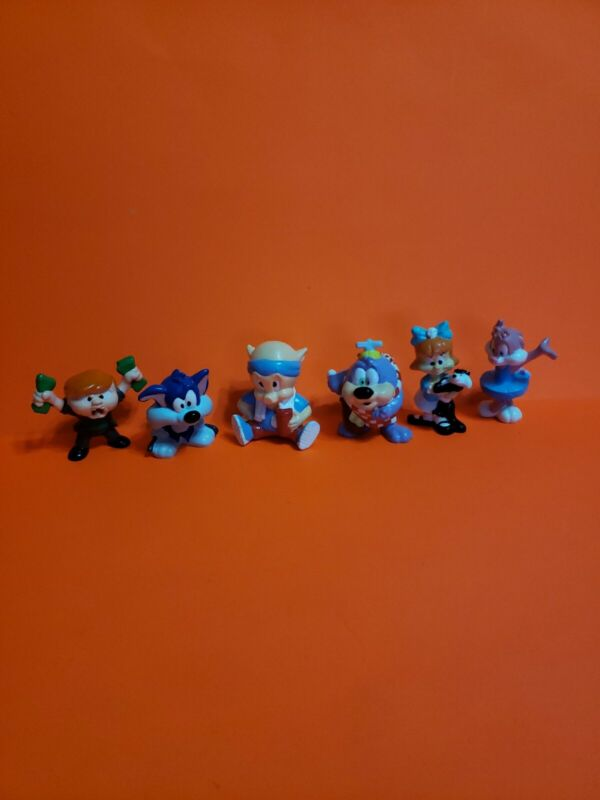 Vintage 1991 Applause Tiny Toon Adventures PVC Figure Warner Bros RARE Lot of 6