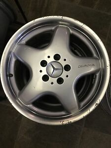 4 Mercedes AMG Staggered Alloy Wheels