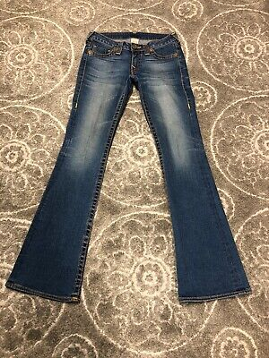 True Religion Bobby Big T jeans 28 X 34 women's GREAT preowned Condition.