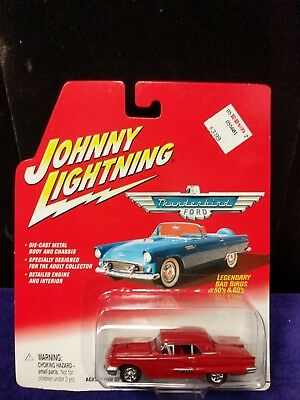 1958 T-Bird RED Johnny Lightning Legendary Bad Birds 50s & 60s (Lot 1)