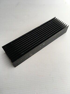 1 Large Aluminum Heat Sink Extrusion 10.75 X 3 X 1.5 Painted Black Parts