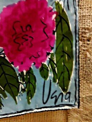 Vintage Scarf Styles -1920s to 1960s Vintage Vera Neuman Hand Rolled Silk Blend Scarf Floral Print Boho Very Good $19.75 AT vintagedancer.com