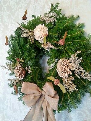 Handcrafted Beehive Balsam Wreaths ~ Made in Maine Maine Christmas Wreath
