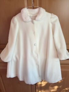 Coat faux fur size 10