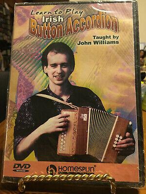 Learn To Play Irish Button Accordion BRAND NEW SEALED DVD John Williams John Williams Accordion