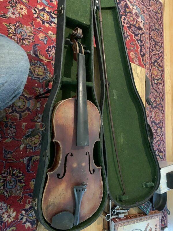 """Nice Antique Vintage Old German """"Joh. Bapt. Schweitzer"""" 4/4 Violin Appam"""