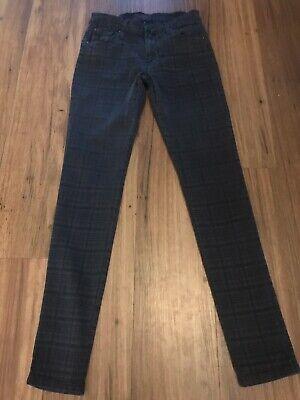 James Jeans Twiggy Dark Grey Check 27 VGC