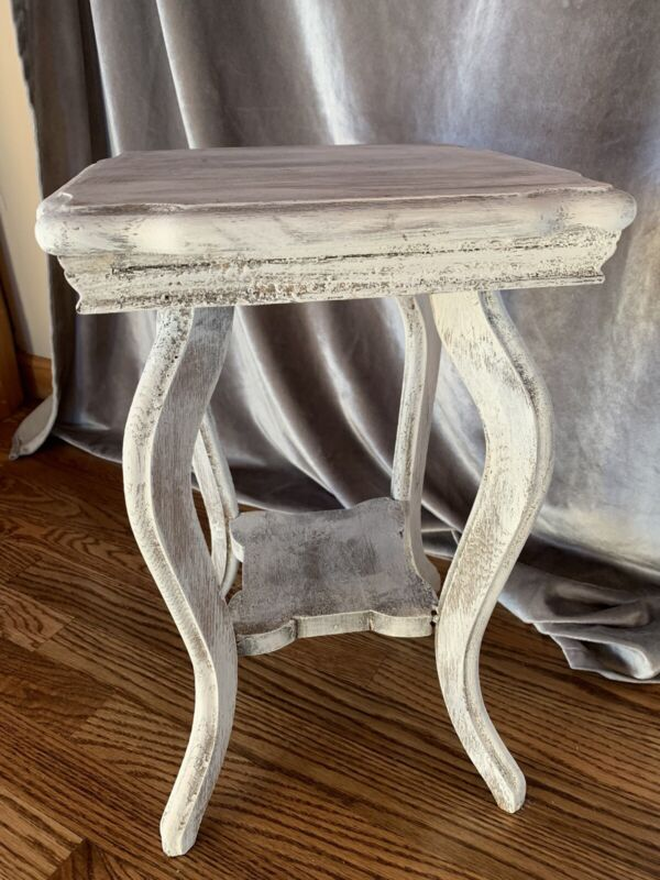 Vintage Wooden Farmhouse Stool Shabby Chic