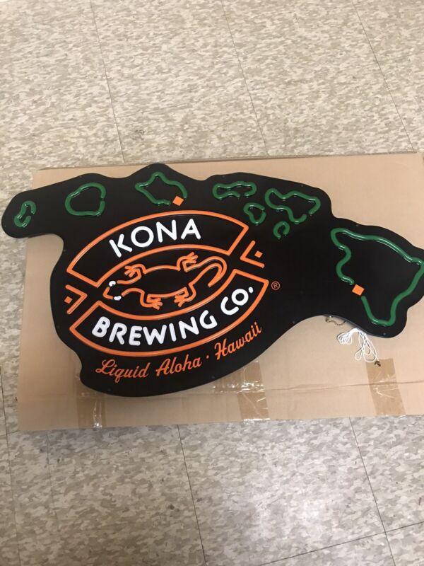 kona brewing. Liguid Aloha Hawaii, LED BEER SIGN (NEW)