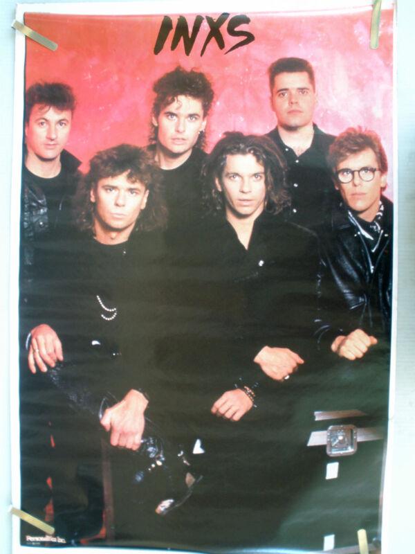 RARE INXS 1986  VINTAGE ORIGINAL MUSIC POSTER