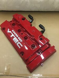 H series H22a VTEC valve cover w/-10AN bungs