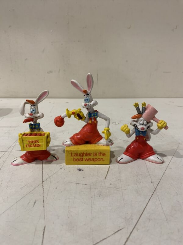 Lot Of 3 1987 Who Framed Roger Rabbit Laughter Is The Best Weapon PVC Figure