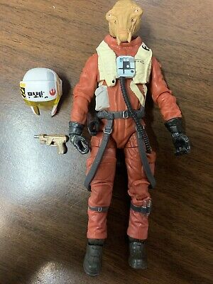 "Star Wars Black Series 6"" Inch ASTY X-Wing Pilot Loose Figure COMPLETE"