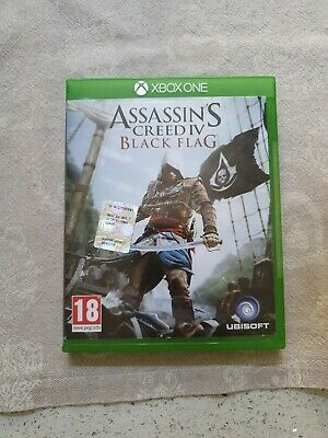 MICROSOFT XBOX ONE ASSASSIN'S CREED IV BLACK FLAG PAL ITALIANO ☆ for sale  Shipping to Nigeria
