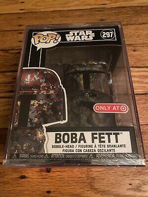 Funko POP Star Wars Boba Fett #297 Futura Camo Target Exclusive w/ Protector