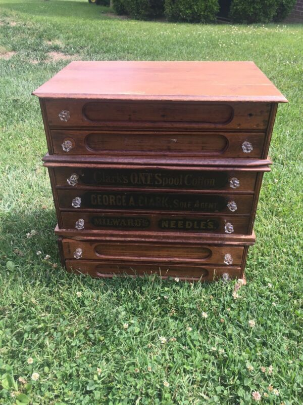 Antique Clarks Spool Cabinet