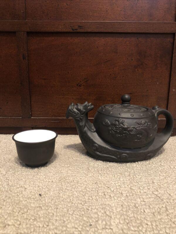 Chinese Tea Pot Yixing Purple Clay Teapot Kettle Traditional Dragon