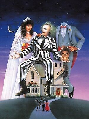 """BEETLEJUICE 16"""" x 12"""" Photo Repro Textless Poster"""
