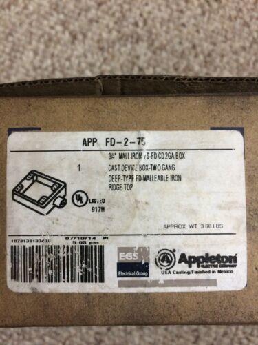Appleton FD-2-75 3/4 Mall Iron Two Gang Box