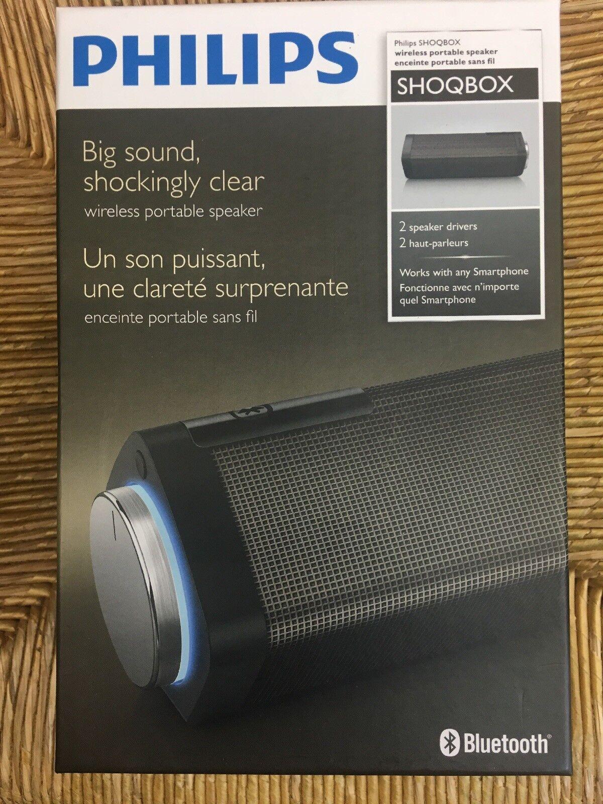 Philips SHOQBOX Wireless Portable Bluetooth Speaker New in B