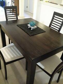 OZ Design Wooden dining Table with 4x chairs Rozelle Leichhardt Area Preview
