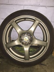 Mags with tires $1200  non negotiable West Island Greater Montréal image 1