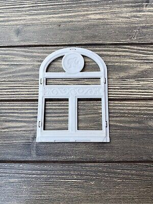 2012 Barbie Dream House Replacement Part Piece White Round Top Window
