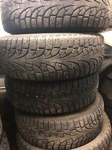 4 pneus d'hivers pirelli avec rims pour sentra nissan