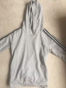 Grey and Black Adidas Pull Over Hoodie