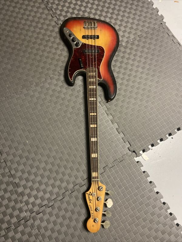 Fender 1969 jazz bass -sunburst- Used Electric Bass *Read*