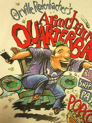 ORVILLE REDENBACHER Gourmet Popping Corn XL tee football T shirt 1980s popcorn