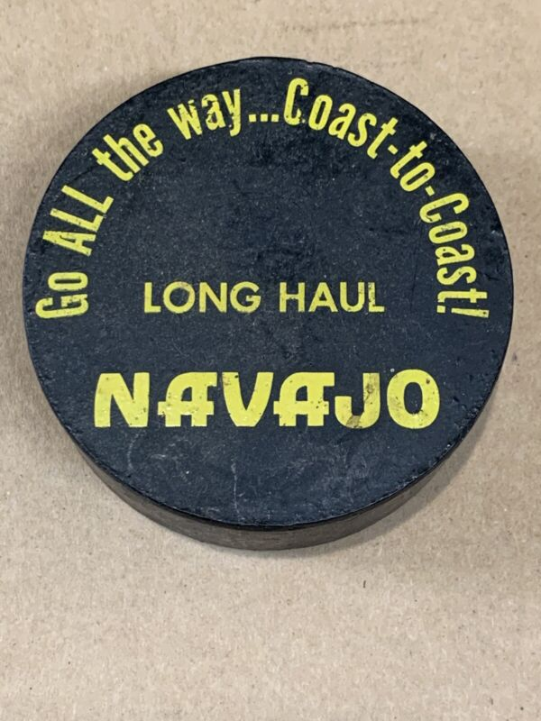 Vintage Navajo Freight Lines / Trucking Hockey Puck Advertising Piece