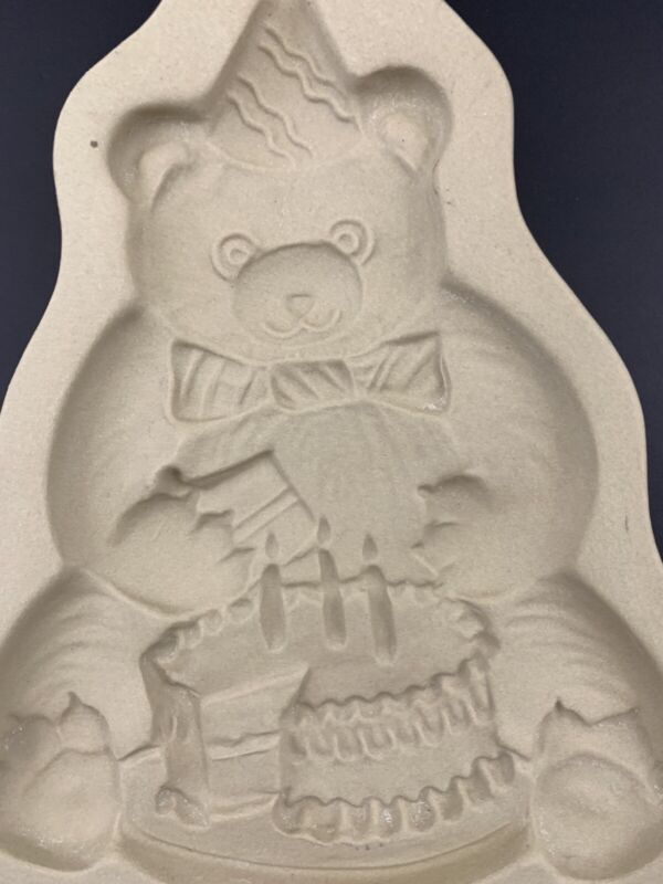 Brown Bag Cookie Art Mold Birthday Bear Cake Party 1989 Hill Design Retired