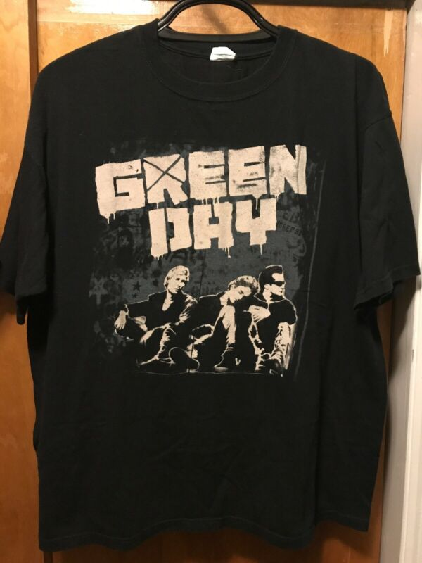 GREEN DAY ~ 2XL ~ 2009 Tour Music Concert 2 Sided T Shirt Venues & Dates on Back