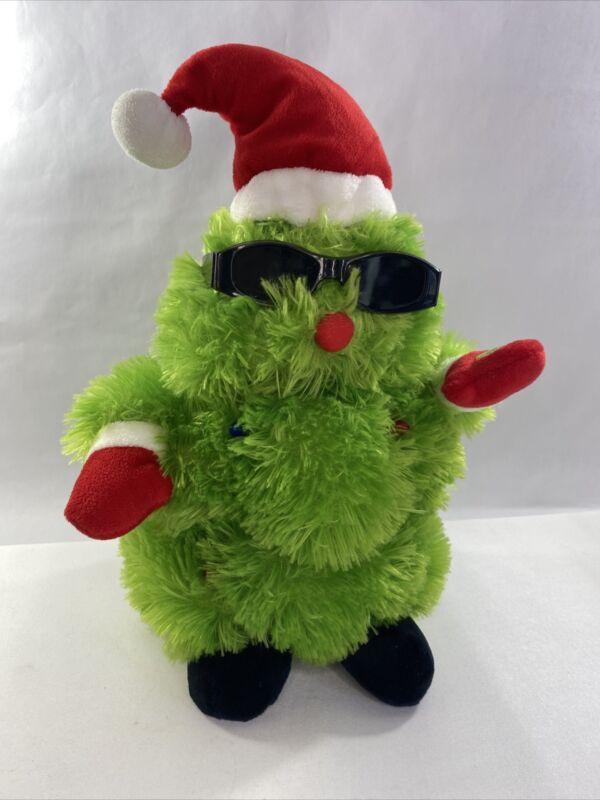 ANIMATED PLUSH SUN GLASS WEARING CHRISTMAS TREE SINGING & DANCING JINGLE BELLS