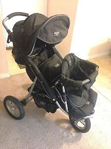 Valco singlor double stroller with all accessories