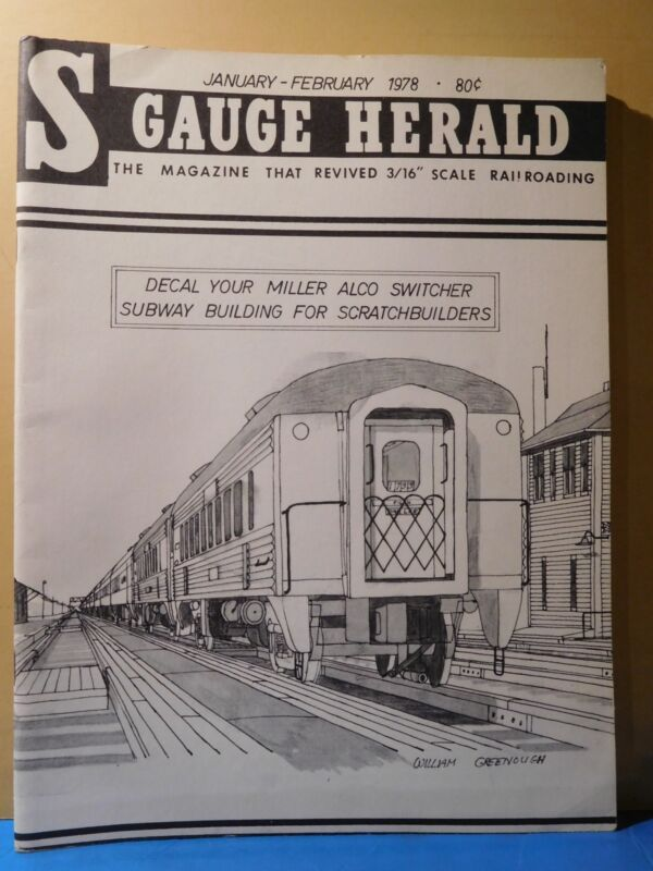 S Gauge Herald 1978 January February Decal Your Miller Alco Switcher
