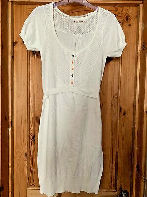 Ladies XS Ichi knitted dress - Cream/Off-white - Worn Once