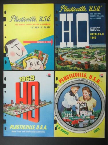 VINTAGE (LOT OF 4) PLASTICVILLE CATALOGS BACHMANN BROS. OSS OF LOCAL DISTRIBUTOR