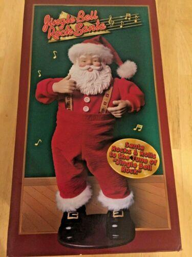1st Edition Jingle Bell Rock Santa Animated Musical Dancing Santa Claus 1998 Box