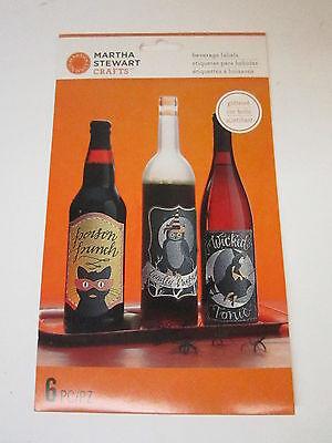 Martha Stewart Crafts - Animal Masquerade Collection - Halloween - Wine Labels - Halloween Wine Labels Martha Stewart