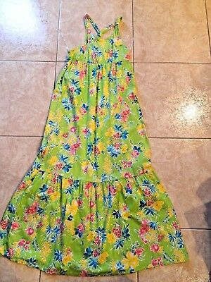 Spring Summer Easter Dress - Chaps Green Floral Maxi Dress Spring Summer Easter  XL(16) NWOT
